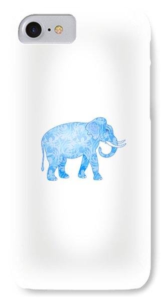 Damask Pattern Elephant IPhone Case