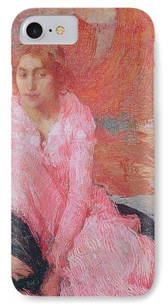 Dame En Rose Phone Case by Edmond Francois Aman Jean