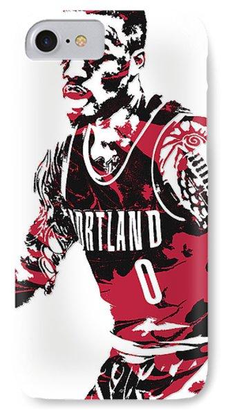 Damian Lillard Portland Trail Blazers Pixel Art 10 IPhone Case
