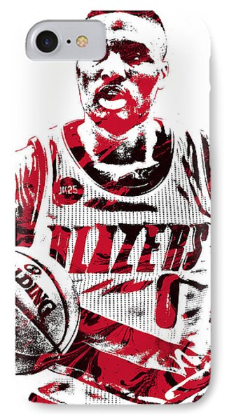 Damian Lillard Portland Trailblazers Pixel Art IPhone Case