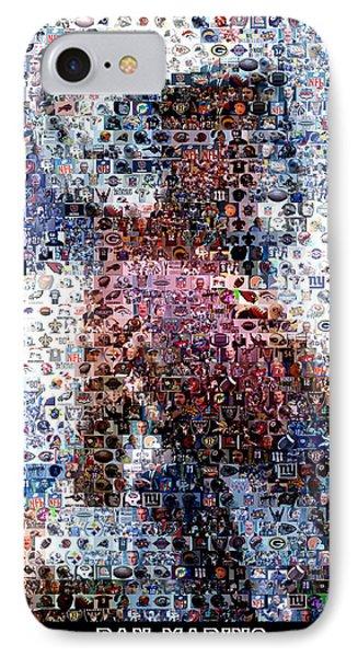 Dan Marino Mosaic Phone Case by Paul Van Scott