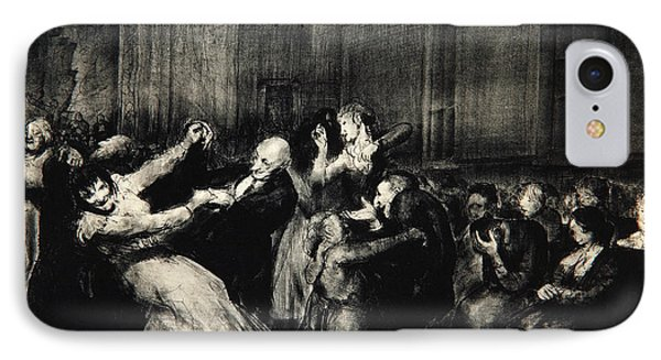 Dance In A Madhouse IPhone Case by George Wesley Bellows
