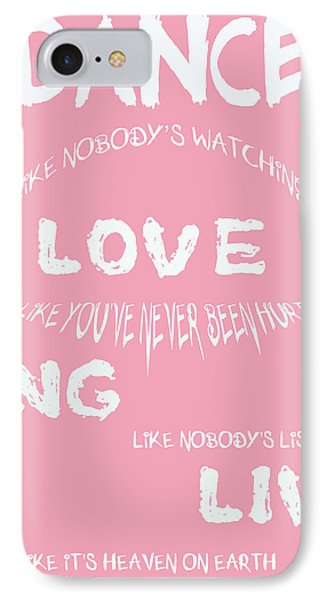 Dance Like Nobody's Watching Phone Case by Georgia Fowler