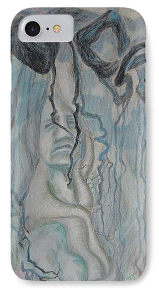 Dance Of Nematodes And Roots IPhone Case by Nancy Mauerman