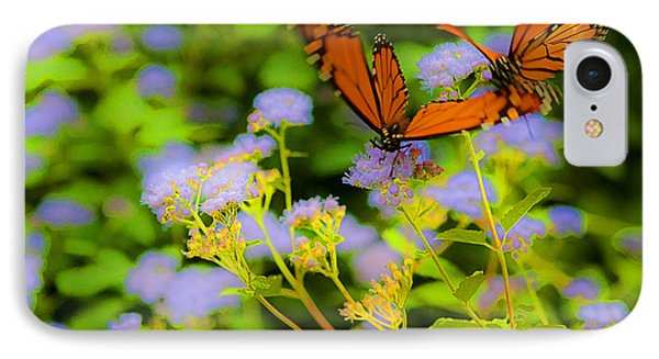 Dance Of The Butterflies IPhone Case by Edward Peterson