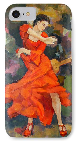 Dance Painting Carmen IPhone Case by Alfons Niex