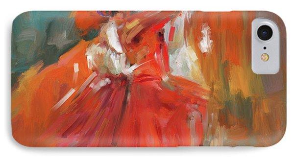 Dancer 284 1 IPhone Case by Mawra Tahreem