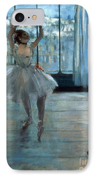 Dancer In Front Of A Window IPhone Case by Edgar Degas
