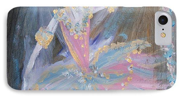 Dancer In Pink Tutu IPhone Case by Judith Desrosiers