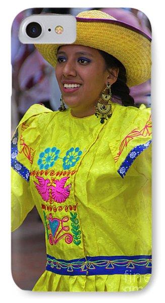 Dancer In The Pase Del Nino Parade Iv IPhone Case by Al Bourassa
