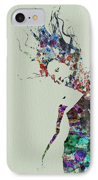 Dancer Watercolor Splash IPhone Case by Naxart Studio