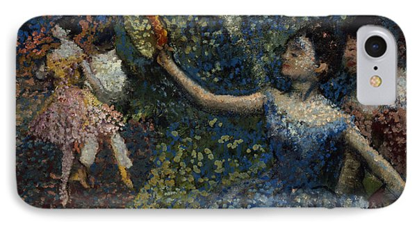 Dancer With A Tambourine Phone Case by Edgar Degas