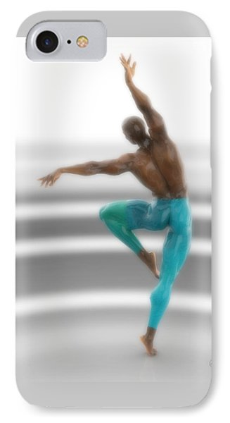 Dancer With Blue Leotards IPhone Case by Joaquin Abella