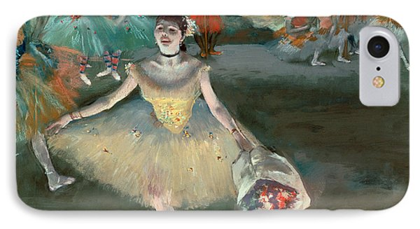 Dancer With Bouquet Phone Case by Edgar Degas