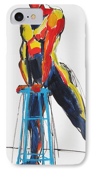 IPhone Case featuring the painting Dancer With Drafting Stool by Shungaboy X