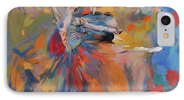 Dancers 278 1 IPhone Case by Mawra Tahreem