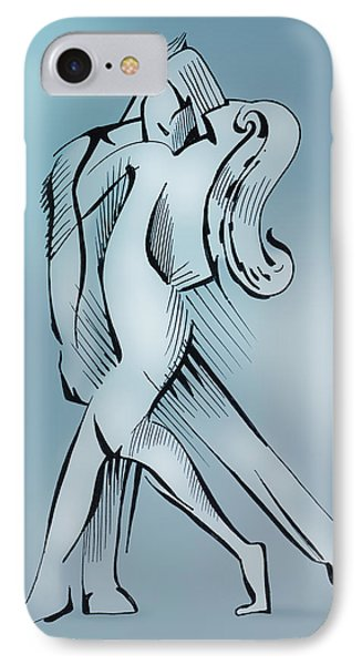 IPhone Case featuring the drawing Dancers by Keith A Link