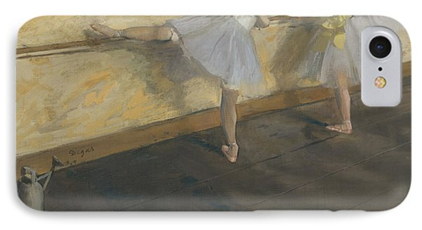 Dancers Practising At The Barre, 1877 IPhone Case by Edgar Degas