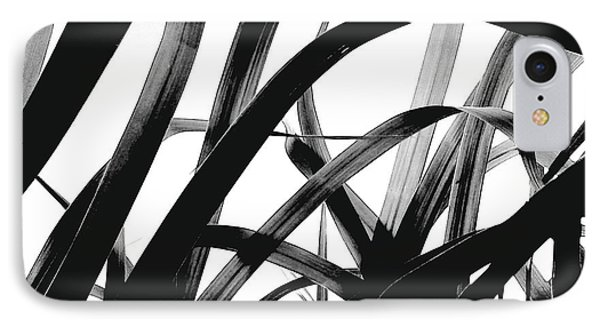 IPhone Case featuring the photograph Dancing Bamboo Black And White by Rebecca Harman