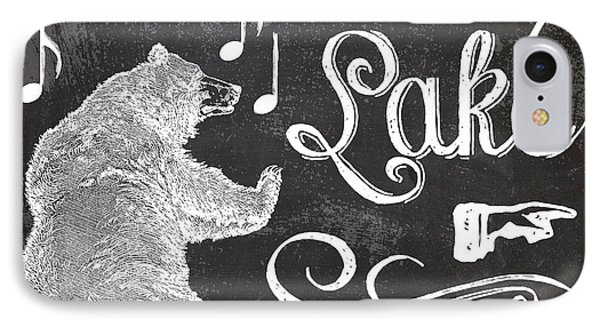 Dancing Bear Lake Rustic Cabin Sign IPhone Case by Mindy Sommers