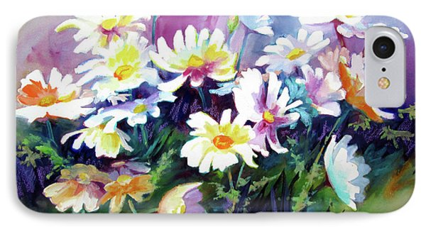IPhone Case featuring the painting Dancing Daisies by Kathy Braud