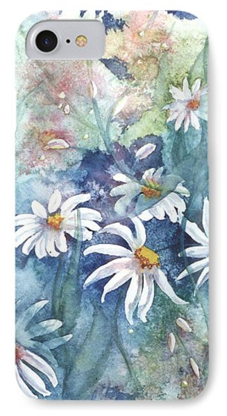 IPhone Case featuring the painting Dancing Daisies by Renate Nadi Wesley