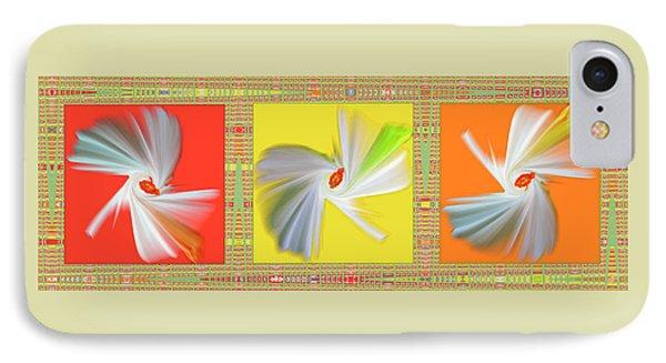 Dancing Flower Trio Phone Case by Ben and Raisa Gertsberg