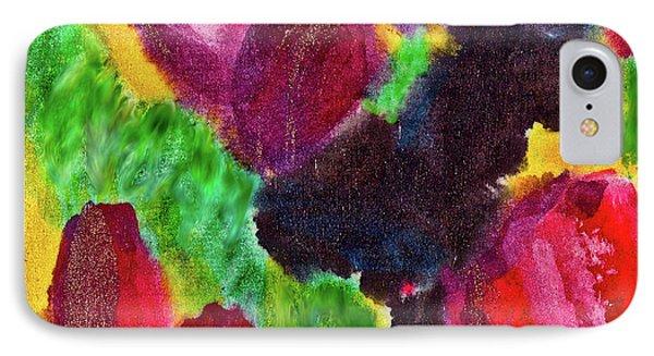 Dancing Flowers IPhone Case by Joan Reese