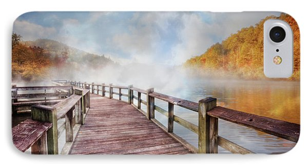 IPhone Case featuring the photograph Dancing Fog At The Lake by Debra and Dave Vanderlaan