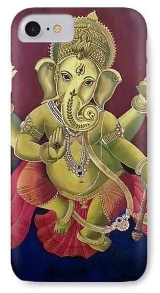 Dancing Ganesha IPhone Case by Rupa Prakash