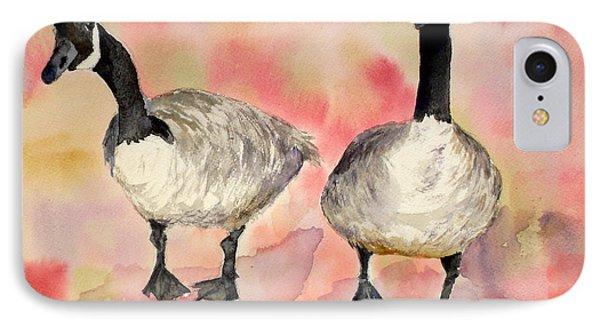 Dancing Geese IPhone Case by Vicki  Housel