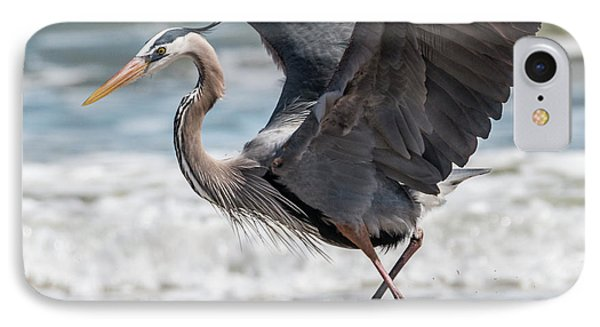 Dancing Heron #2/3 IPhone Case by Patti Deters