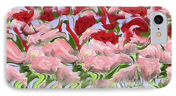 IPhone Case featuring the painting Dancing In The Garden by David Dehner
