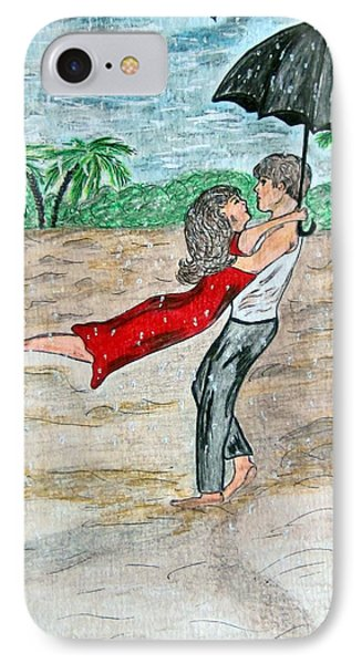 Dancing In The Rain On The Beach IPhone Case