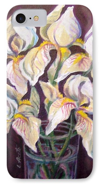 IPhone Case featuring the painting Dancing Iris by Laura Aceto
