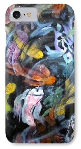 Dancing Koi IPhone Case by Barbara O'Toole