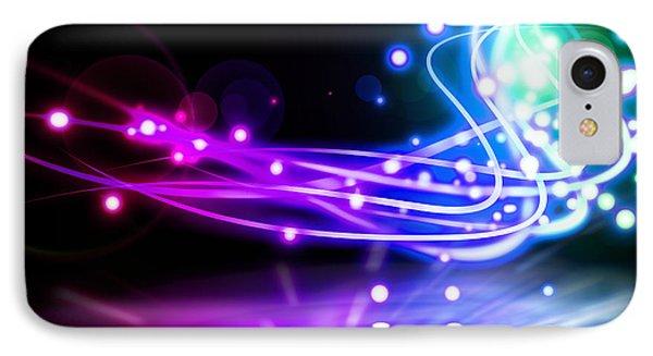 Dancing Lights IPhone Case by Setsiri Silapasuwanchai