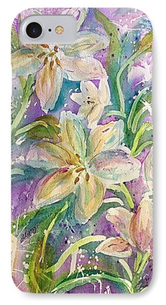Dancing Easter Lilies IPhone Case by Ellen Levinson