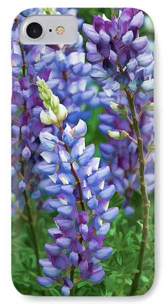 IPhone Case featuring the photograph Dancing Lupines - Spring In Central California by Ram Vasudev