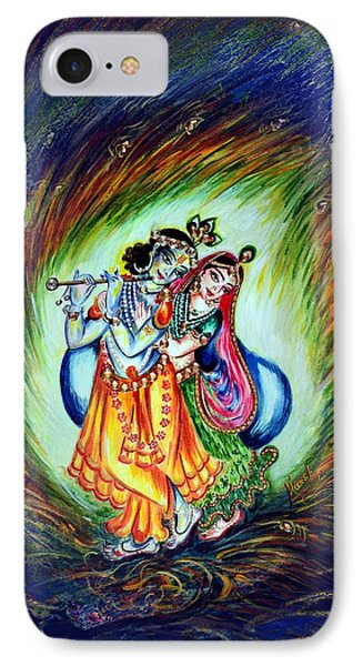 Dancing - Radha Krishna By Harsh Malik IPhone Case by Harsh Malik