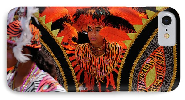 Dancing Tiger King Of The Band With Queen At The Junior Caribana IPhone Case by Reimar Gaertner