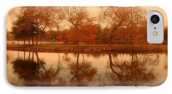 Dancing Trees - Lake Carasaljo IPhone Case