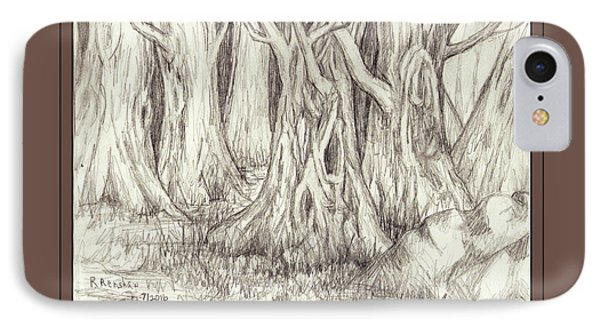 Dancing Trees Phone Case by Ruth Renshaw