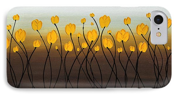 IPhone Case featuring the painting Dancing Tulips by Carmen Guedez