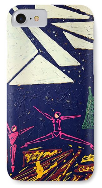 IPhone Case featuring the mixed media Dancing Under The Starry Skies by J R Seymour