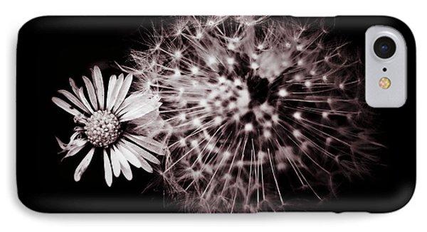 Dandelion And Daisy Phone Case by Grebo Gray