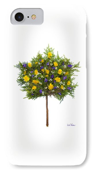Dandelion Violet Tree Phone Case by Lise Winne