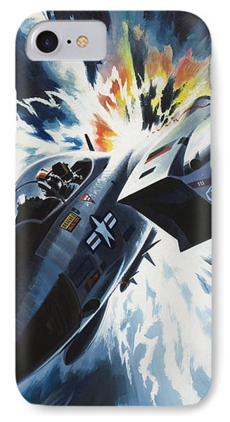 Danger From The Skies IPhone Case by Wilf Hardy