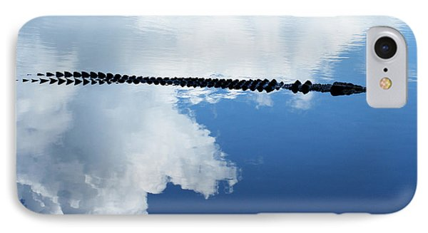 IPhone Case featuring the photograph Dangerous Reflection Saltwater Crocodile by Gary Crockett