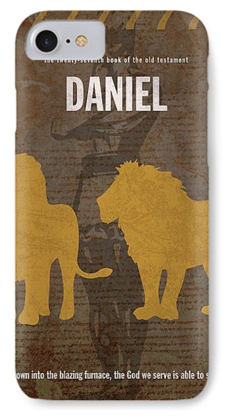 Daniel Books Of The Bible Series Old Testament Minimal Poster Art Number 27 IPhone Case